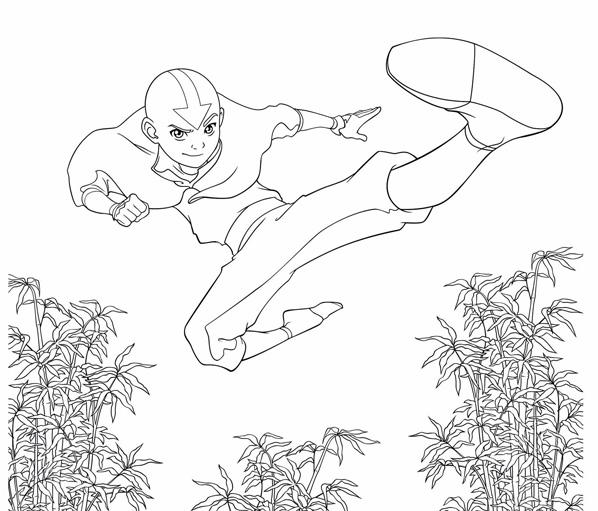 Colorea a Aang en el aire | Estado Avatar: La Leyenda de Korra ONLINE