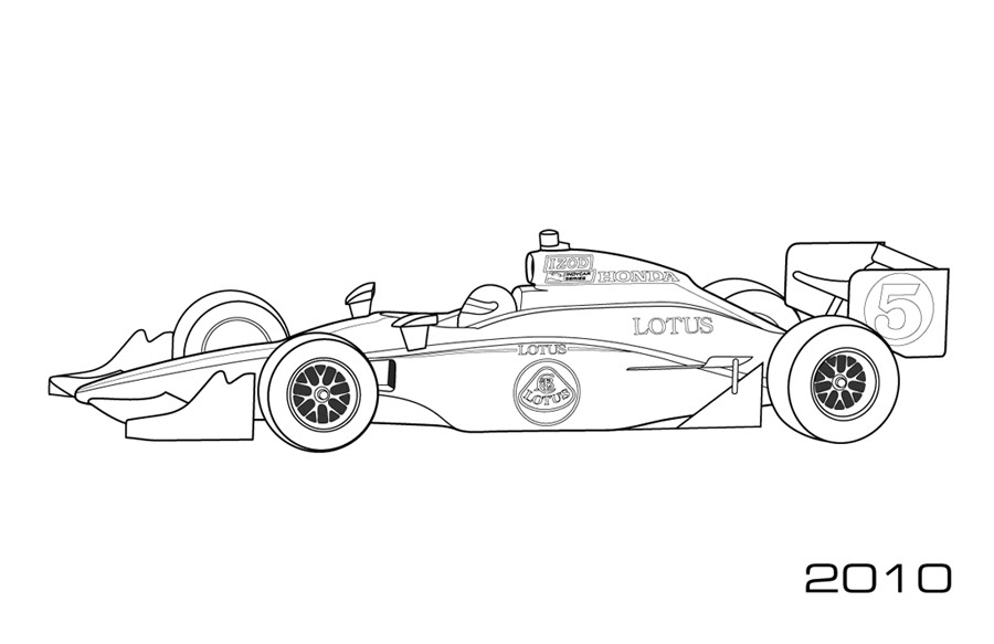 Modern Indy Cars Car Coloring Pages