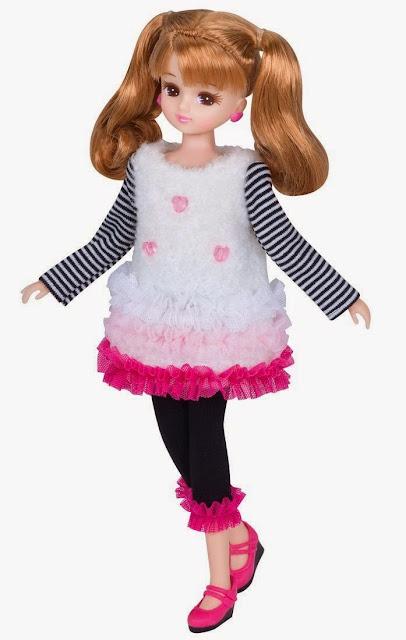 Trang phục Licca Dress SetMille Feuille làm tôn lên dáng vẻ kiều diễm của búp bê Licca