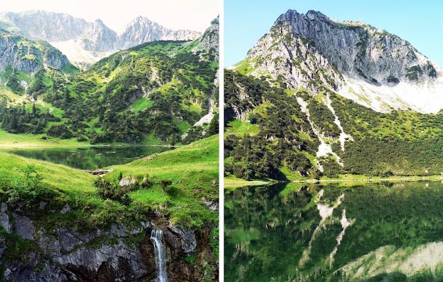 Wasserfall Gaisalpsee Gaisalphorn Oberstdorf Allgäu