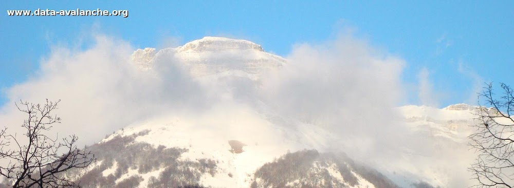 Avalanche Bauges, secteur Mont Margeriaz - Photo 1