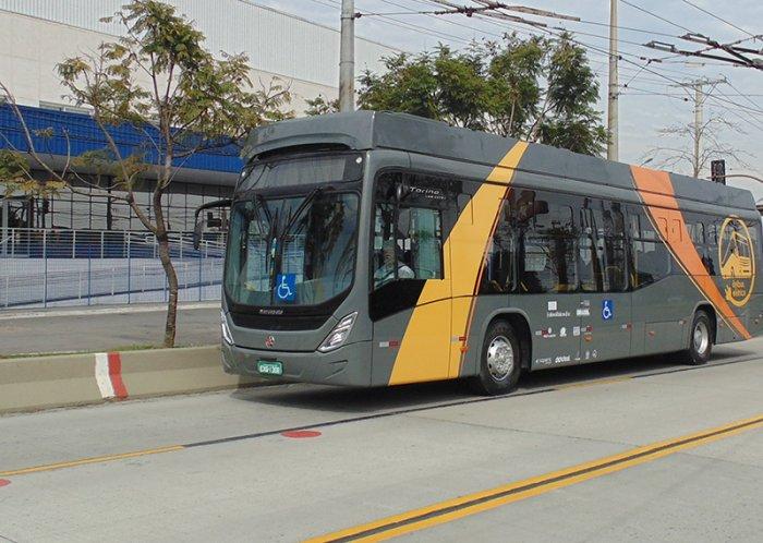 Após três anos de operação, o e-Bus deixou de circular por falta de recursos financeiros para a manutenção de suas operações. (Fonte: Weg/Reprodução)