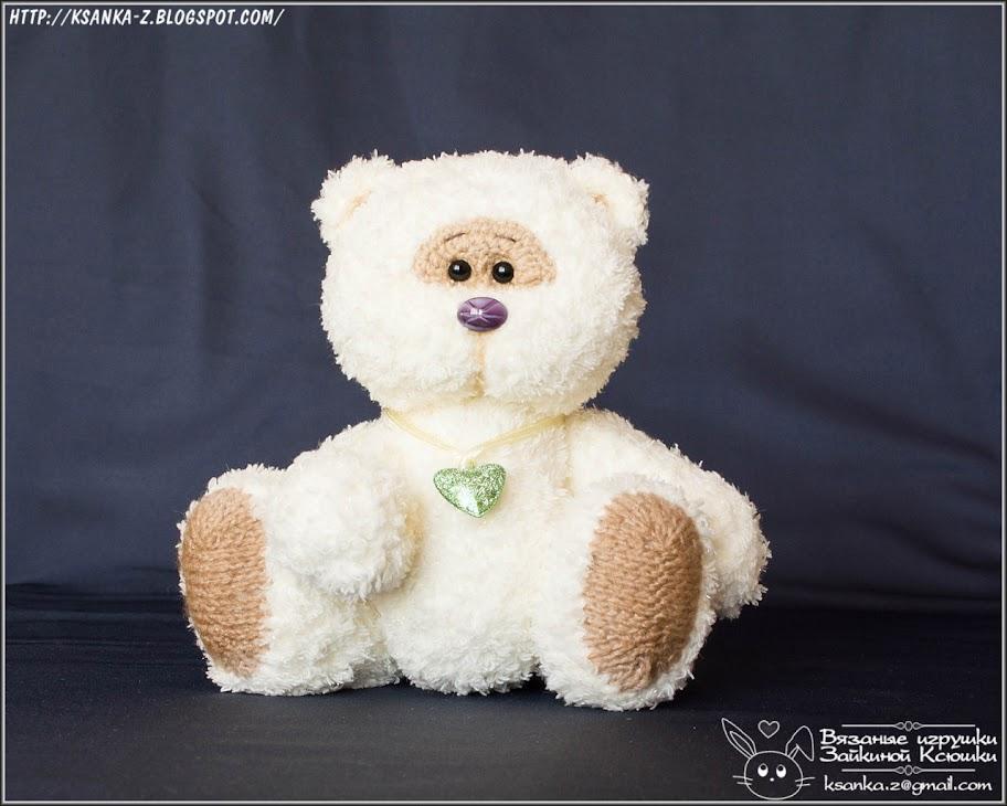 вязаные игрушки зайкиной ксюшки вязаный мишка Knitted Bear