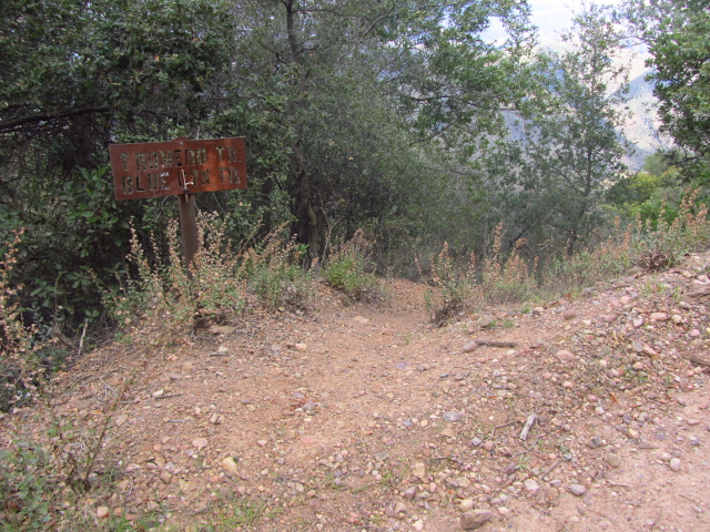 trailhead for Romero Canyon trail