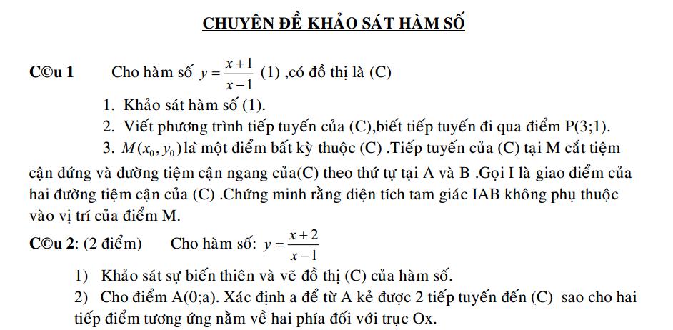 64 bai khao sat ham so