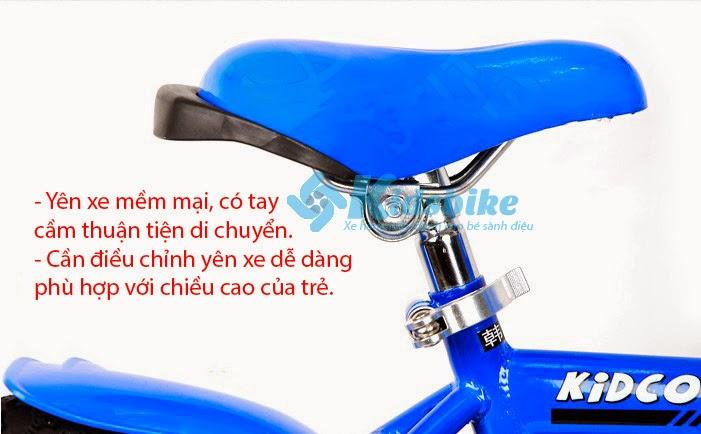 Xe đạp Stitch Kidco màu xanh nước biển yên xe