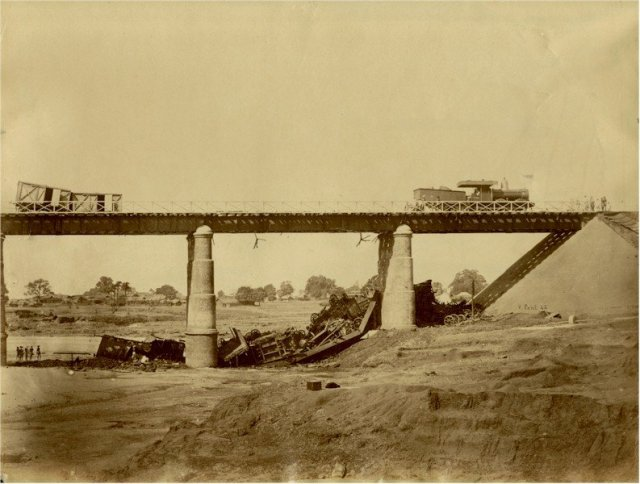 Telwa Bridge Accident, East India Railway - Circa 1870
