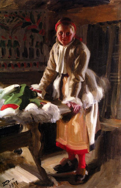 Anders Zorn - Morakulla I Vinterdrakt