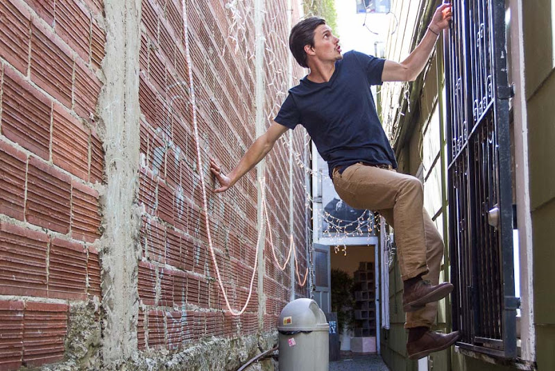 Alley Scurry in Betabrand Sons of Britches
