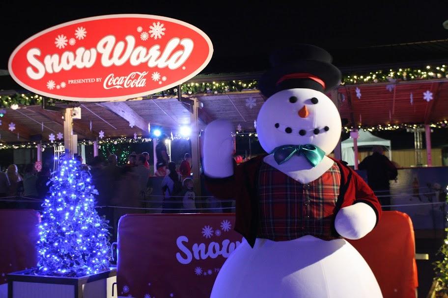 Snow World at Christmas Town Busch Gardens