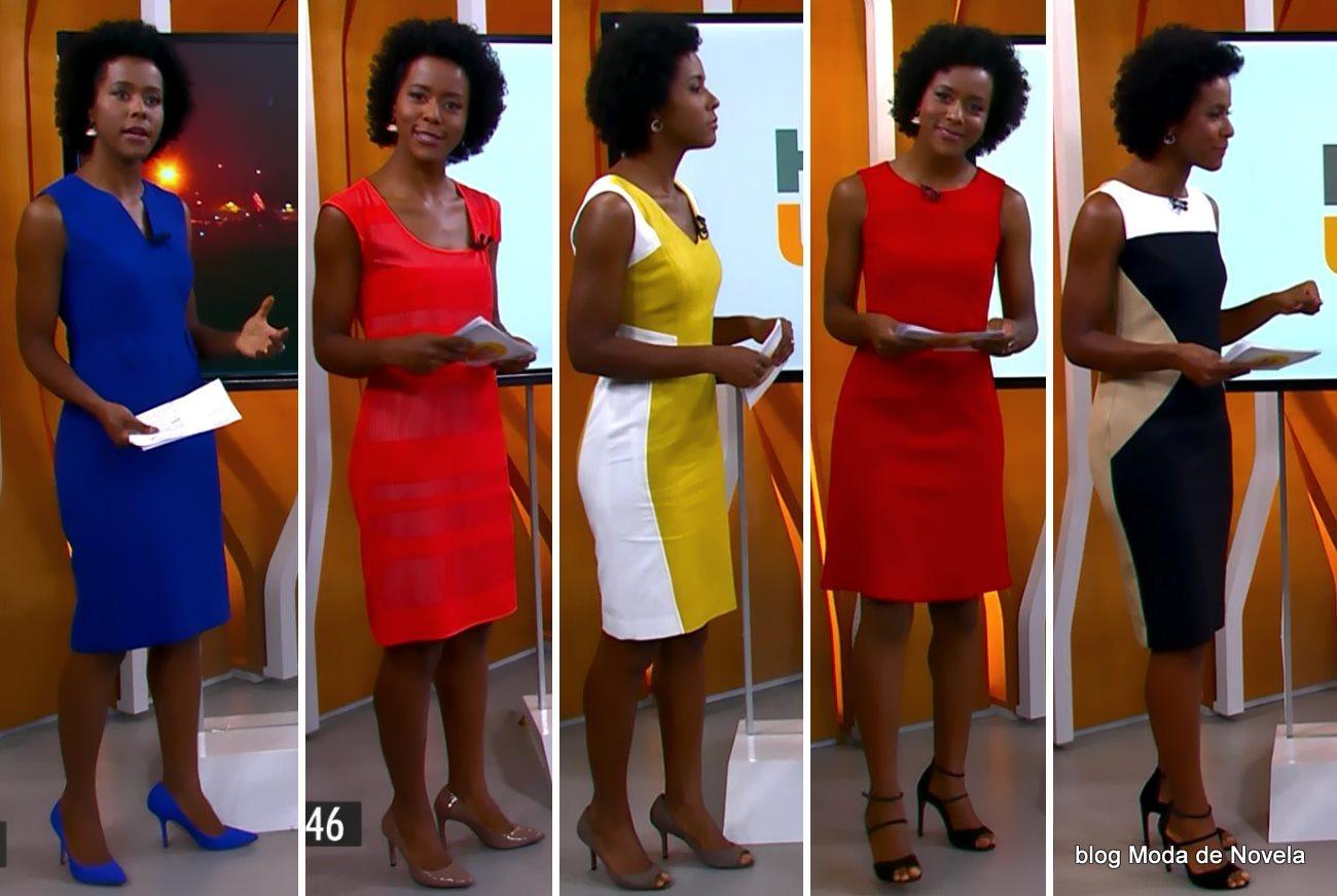 moda do programa Hora 1, looks da Maria Julia Coutinho dias 15 a 19 de dezembro de 2014