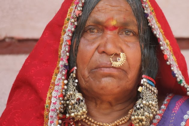 Colourful look of a traditional Lambani tribal woman