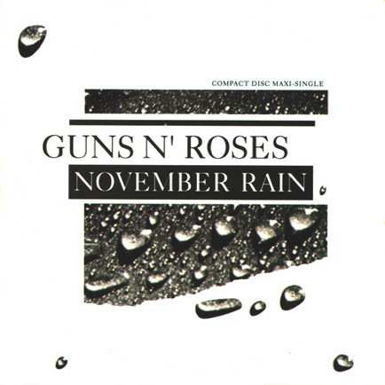 Guns N' Roses - November Rain Lyrics, Art Cover