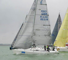 J/105 Journeymaker V sailing on Solent- Hamble Winter Series