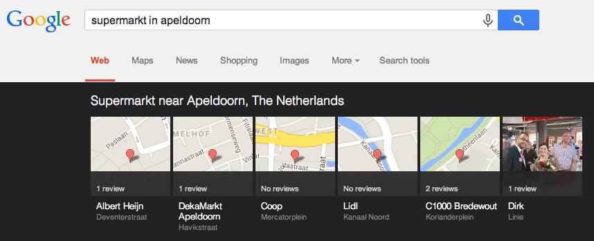 Carousel weergave van: supermarkt in Apeldoorn