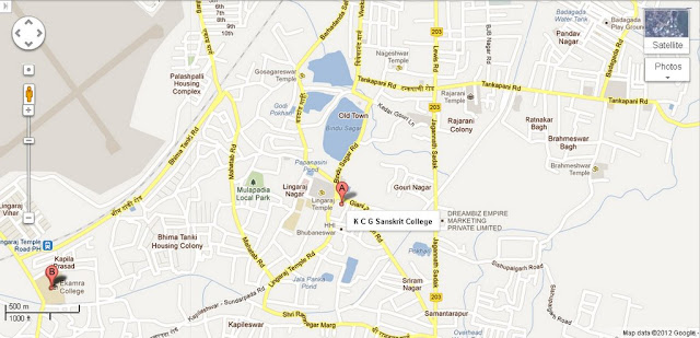 KCG Sanskrit College Bhubaneswar Area Map