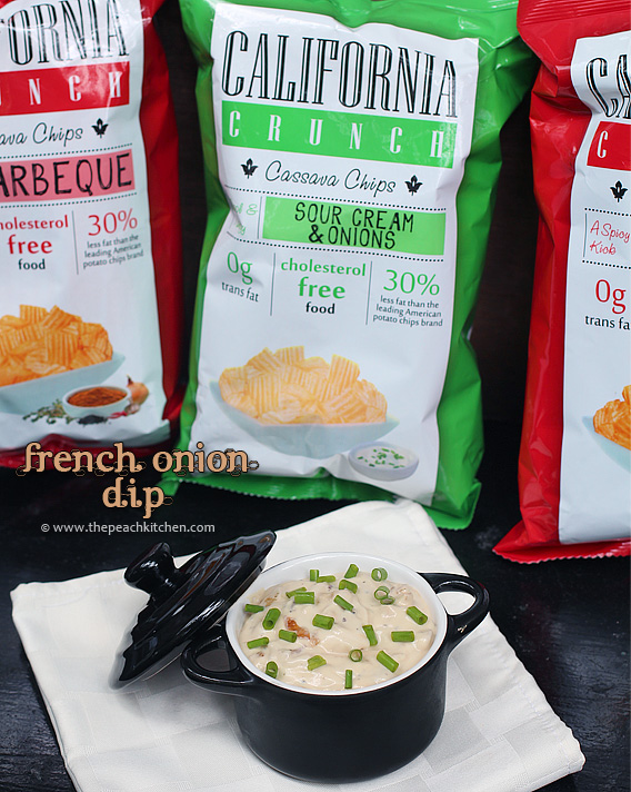 French Onion Dip & A Food Find:California Crunch Cassava Chips