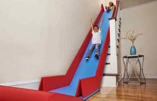 SLideRider tobogán pòrtable para escaleras