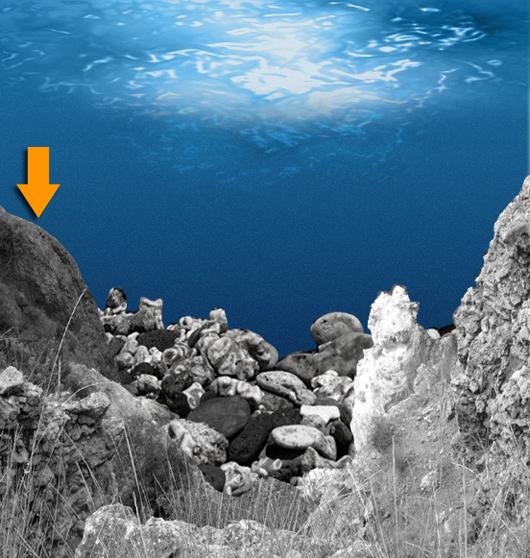 Insira mais rochas e ajuste a composição
