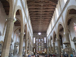 Inside Sante Croce - it's pretty immense inside