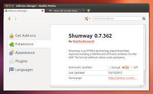 Mozilla Shumway in Firefox