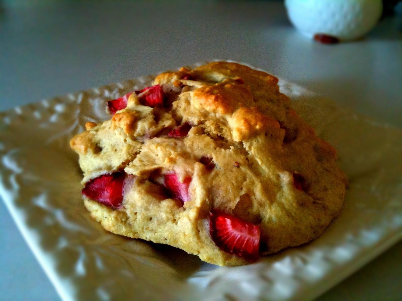 fresh strawberry scones ww points 4