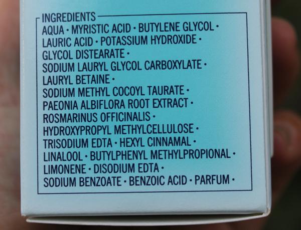 shiseido pureness foaming cleansing fluid - состав
