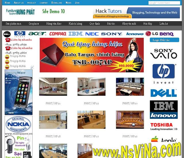 Dự án thiết kế website doanh nghiệp 05