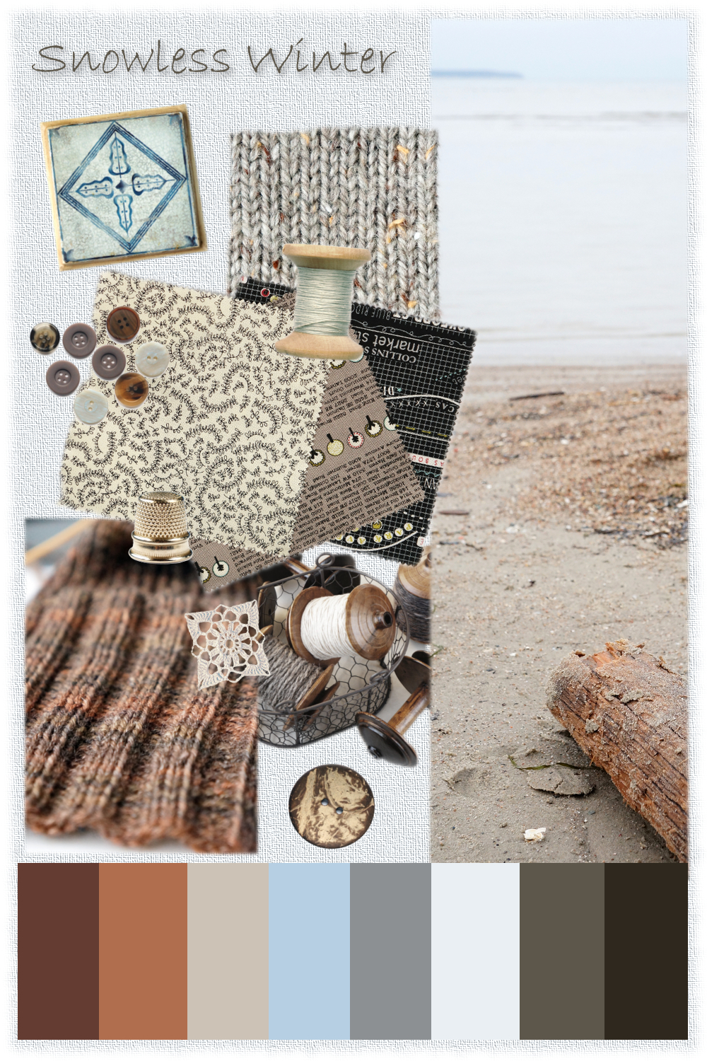 Snowless Winter Mood Board {tettidesign}