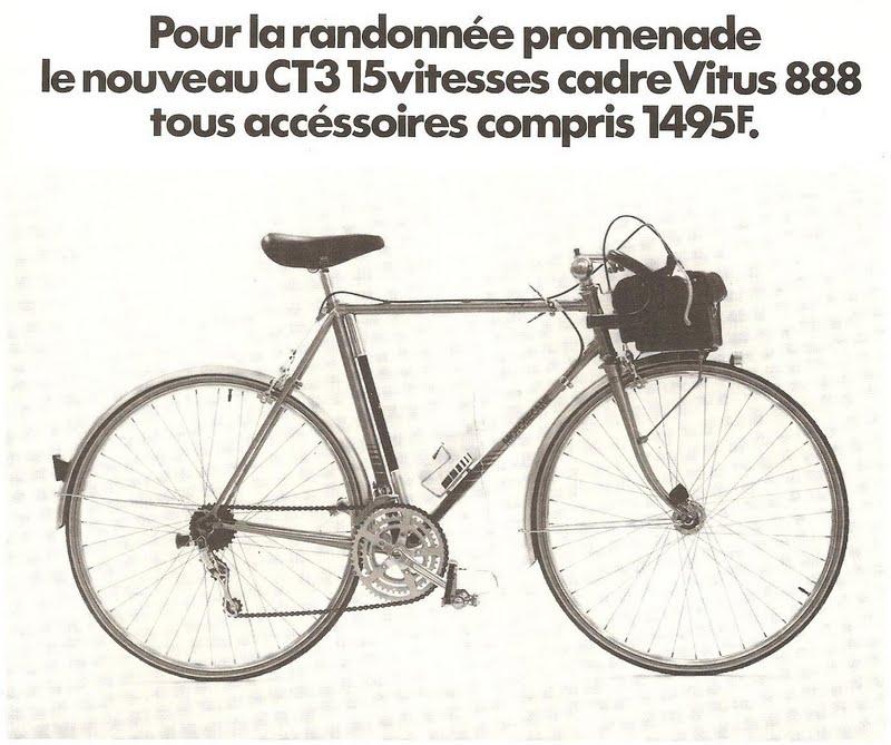 Le vélo de cyclotourisme de Motobécane n'a jamais trouvé son public dans les clubs de la FFCT