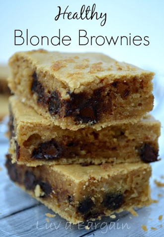 Healthy Blonde Brownies by Luv a Bargain