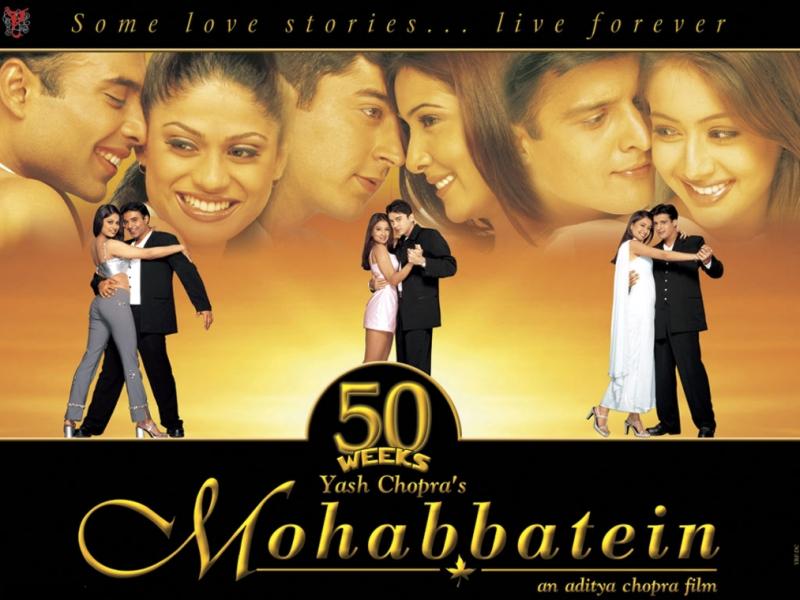 hindi mohabbatein film songs download