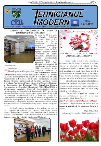 ed5 (PRINT - liceu) tehnicianul modern_Colegiul Politehnic_din_mun. Bălți_BăLțI