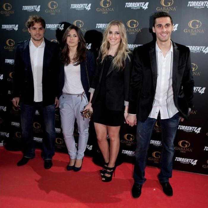 Real Madrid Players Attend Torrente 4 Movie Premiere