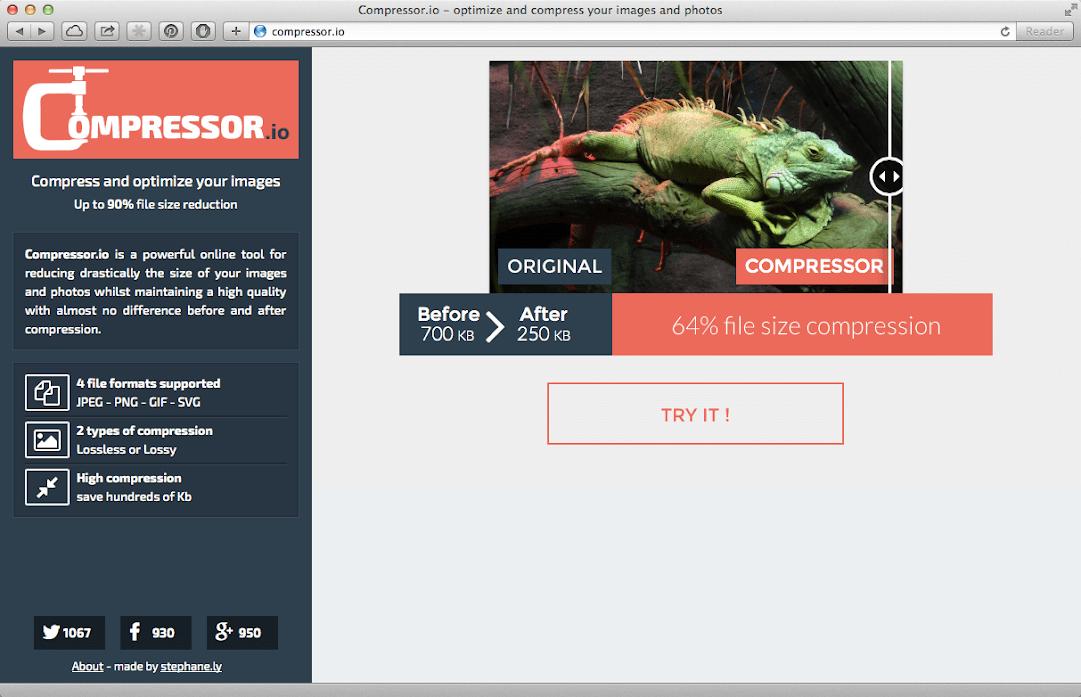 Compressor.io website