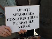 Opriţi aprobarea construcţiilor pe spaţiile verzi! - Protest împotriva distrugerii spaţiilor verzi din Suceava