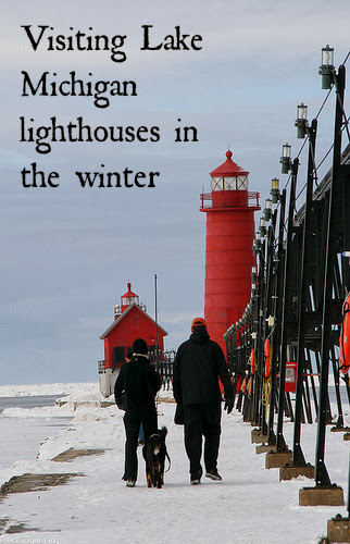 Visiting Lake Michigan lighthouses in the winter