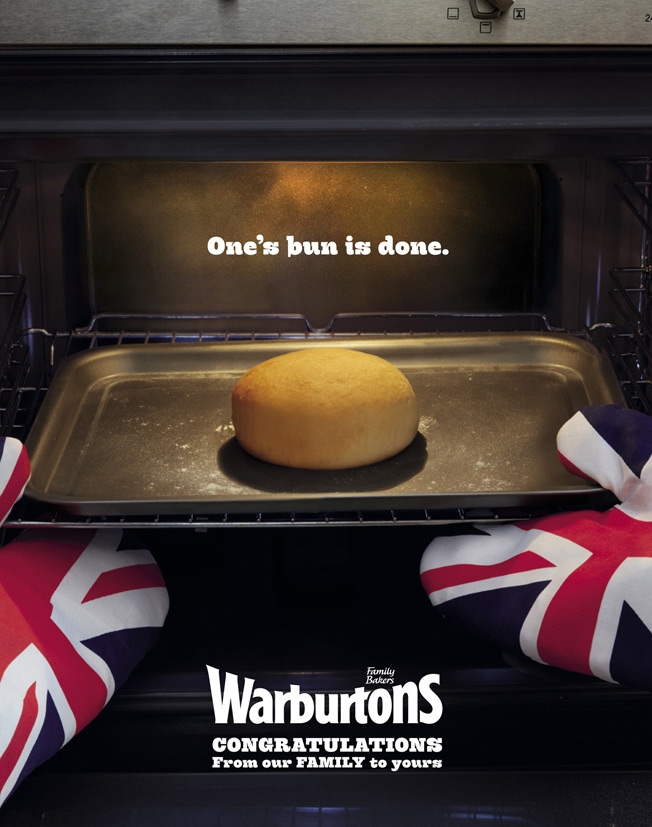 "UK's Warburtons Bakery Celebrate The Royal Baby with ""One's Bun is Done"" Ad"