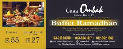Harga Buffet Ramadan