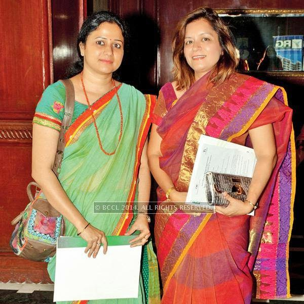 Pooja Agrawal and Jyoti Dewan during a conference dedicated to women empowerment, organised by CII Yi, on Malala Day, in Lucknow.