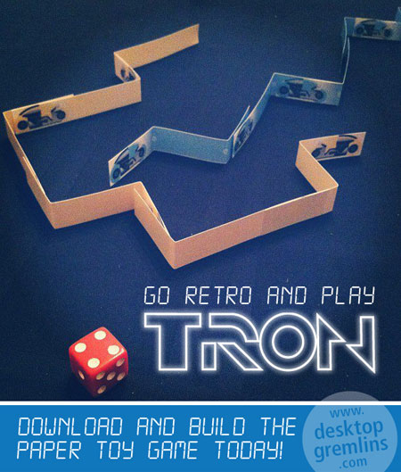 Tron Game Papercraft