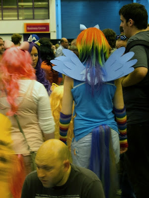 My Little Pony cosplayers at London Film and Comic Con