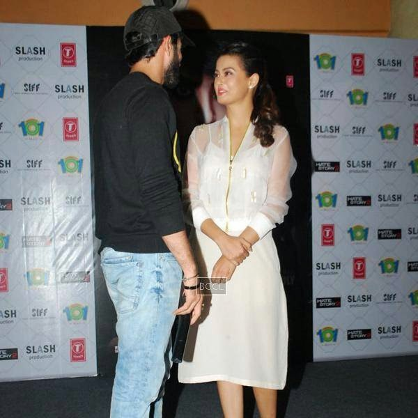 Jay Bhanusali and Surveen Chawla during the promotion of film Hate Story 2, in Mumbai. (Pic: Viral Bhayani)