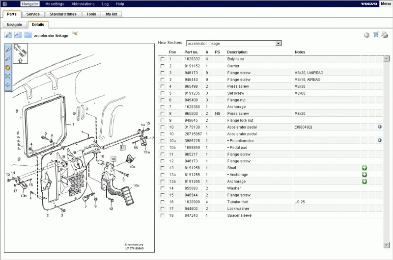 Volvo B12 Wiring Diagram : برنامج صيانة وقطع غيار شاحنات volvo impact service