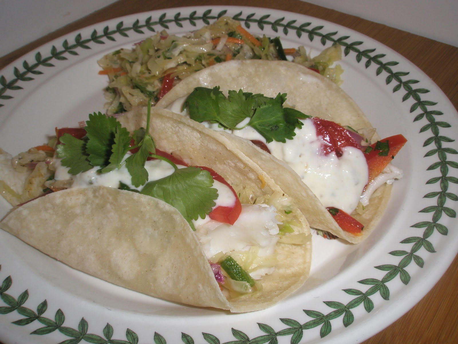 Got it cook it simple fish tacos with spicy coleslaw for Fish tacos with coleslaw