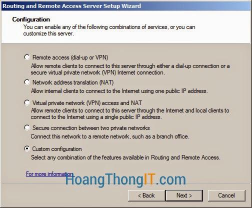 Cấu hình DHCP Relay Agent trên windows 2008