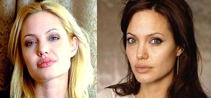 Angelina Jolie loira ou morena?