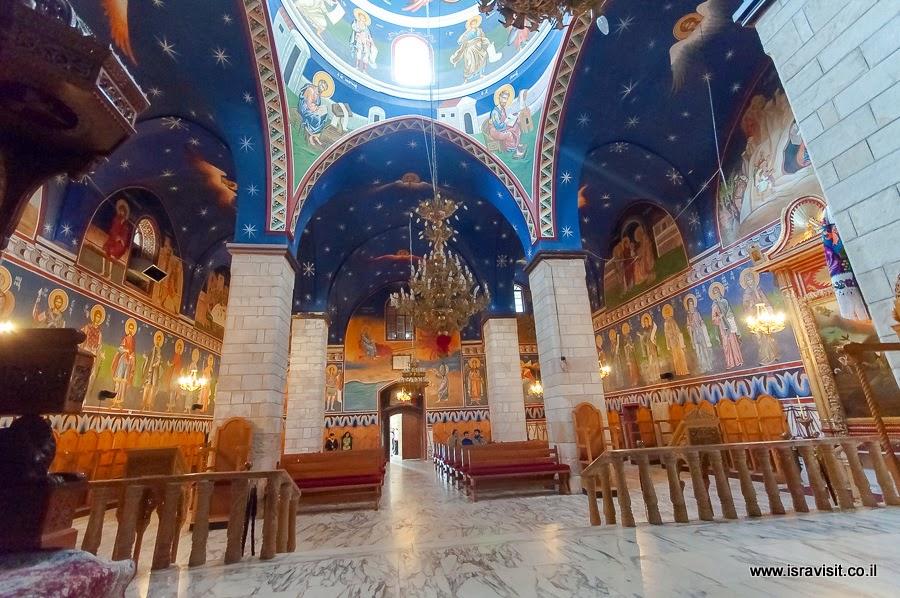 Монастырь Ильи Пророка, церковь. Экскурсии в Израиле гида Светланы Фиалковой.