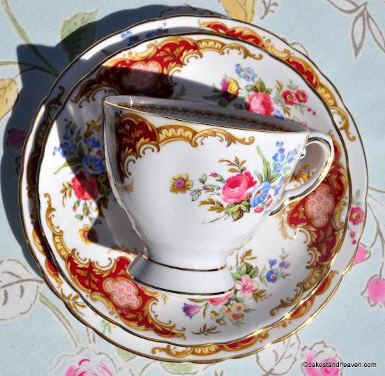 Tuscan Windsor vintage teacup, saucer, plate trio