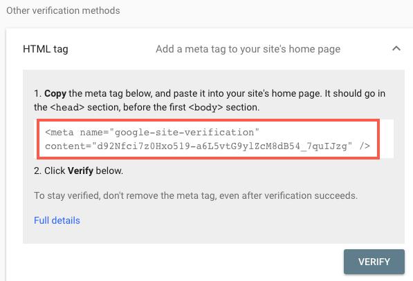 Meta Tag HTML Tags
